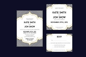 Art Deco Inspired Wedding Invitation