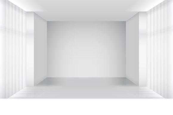 White Empty Room Interior Graphics Creative Market