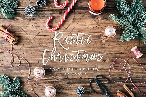 Product Mockups: White Nova Studio - Rustic Christmas Bundle