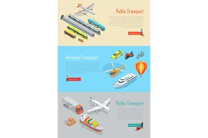 Public and Personal Transport Vector