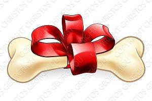 Pet Dogs Bone Christmas or Birthday