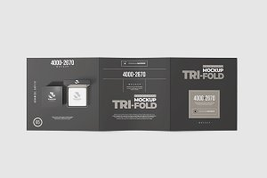 Tri-Fold Square Brochure Mock-up 1