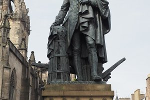 Adam Smith statue in Edinburgh