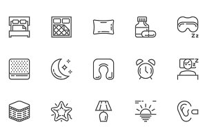 Sleep Line Icons