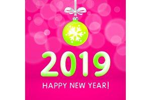 Christmas ball 2019 happy New Year