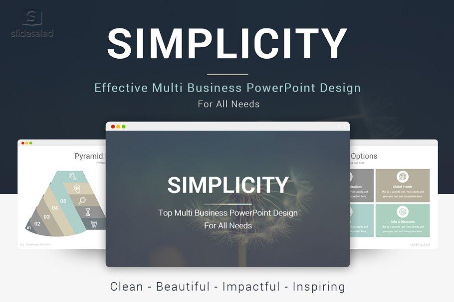 Simplicity Best Powerpoint Template Powerpoint Templates