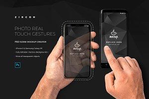 Zircon Touch Gestures Mockup Creator