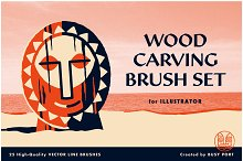 Wood Carving Brush Set by  in Brushes