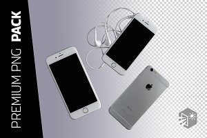 3 IPHONE 6 PNG IMAGES