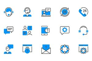 Help, Support and Contact Icons