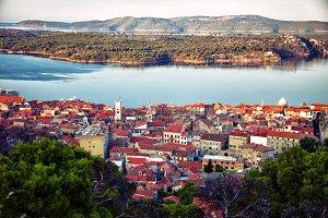 ancient Town Sibenik on the Adriatic