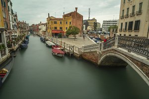 Small canals and bridge in Venice