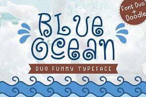 Blue Ocean - Cute Baby Font Duo