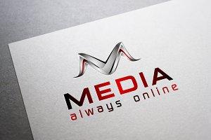 M 3D Logo - Media Online