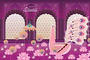 diwali greetings template vector