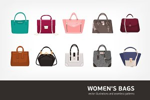 Women's bags bundle and seamless