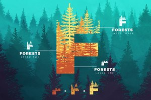 Forests Layered Font