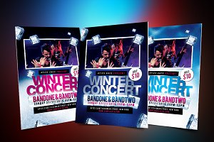 Winter Music Concert Flyer