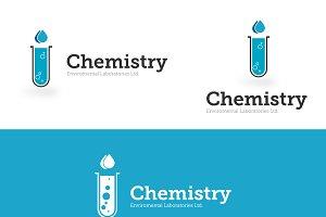 Science (chemistry) logo template
