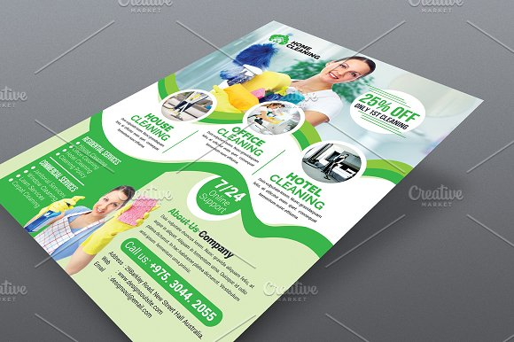 house cleaning service flyer flyers