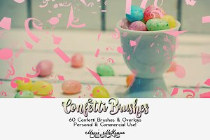 Confetti Brushes & Overlays