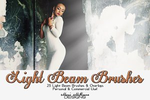Light Beams Brushes & Overlays