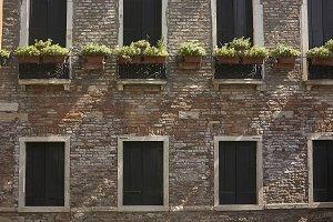 Brick facade and windows