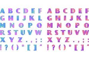 Creative bright gradient font
