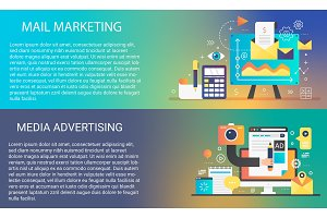 Mail marketing horizontal concepts