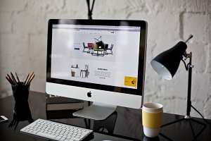 Black designer's workplace - photo