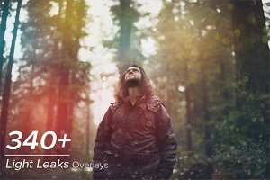 340+ Light Leaks Photo Overlays