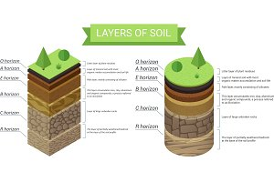 Soil layers infographic