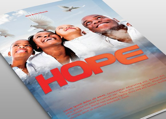 hope church bulletin template brochure templates creative market