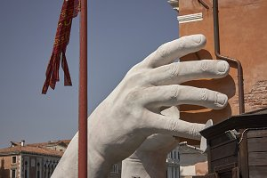 The giant hand