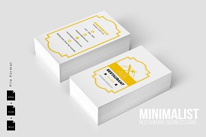 Minimalist Food Business Card