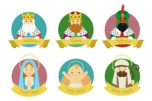 Characters from Nativity scene