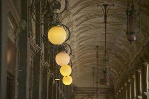 Vintage public street lamps