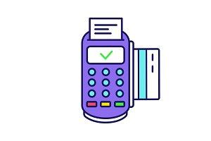 POS terminal transaction color icon