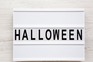 'Halloween' word on modern board