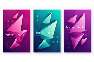 Vector abstract geometric