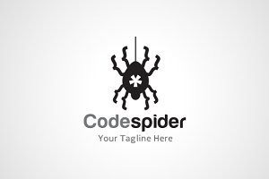 Code Spider Logo Template