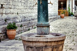 Ancient fountain of drinking water
