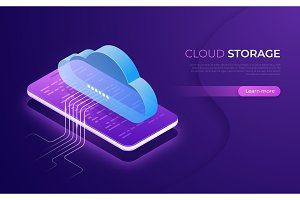 Cloud storage and technology, web