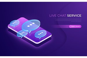 Live chat service, social media