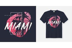 Colors of Miami beach graphic tee