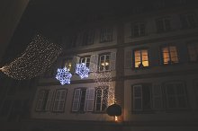Snowflake Holiday Lights in France by  in Holidays