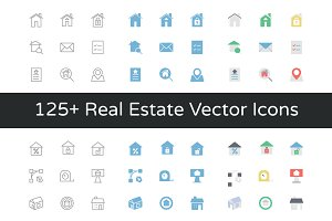 125+ Real Estate Vector Icons