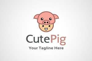 Cute Pig Logo Design / icon