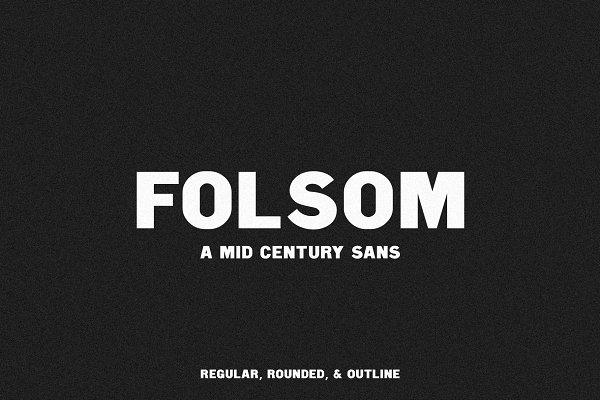 Sans Serif Fonts: Jen Wagner Co - Folsom | A Mid Century Sans