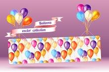 Balloons vector collection
